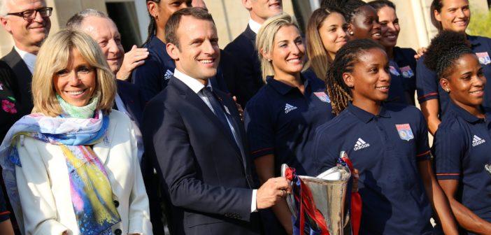 [OL Féminin] Les joueuses et le staff à l'Élysée avec Emmanuel Macron