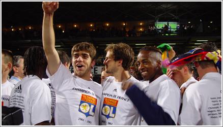 Ambiance - victoire des lyonnais - Lyon /Lens - 04.05.2002