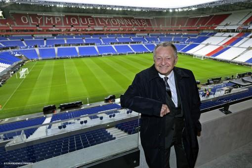 Jean-Michel Aulas au Parc OL - olweb.fr