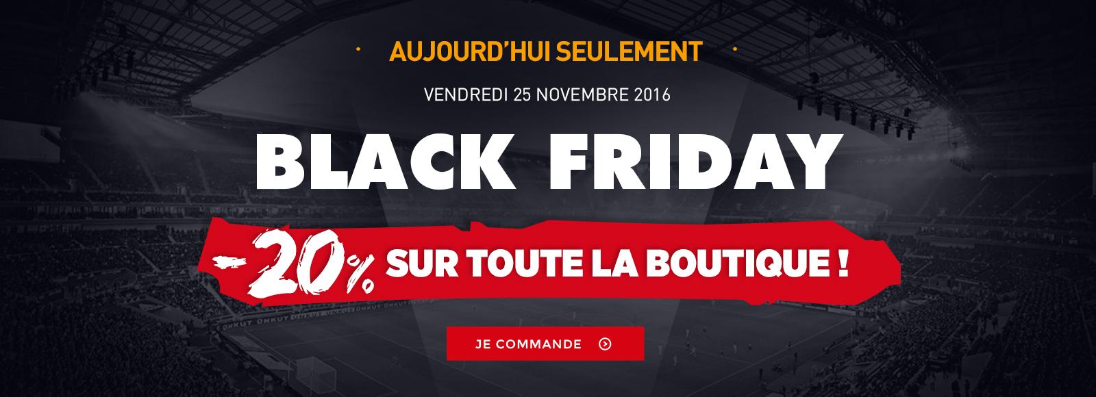[Black Friday] -20% sur toute la boutique OL