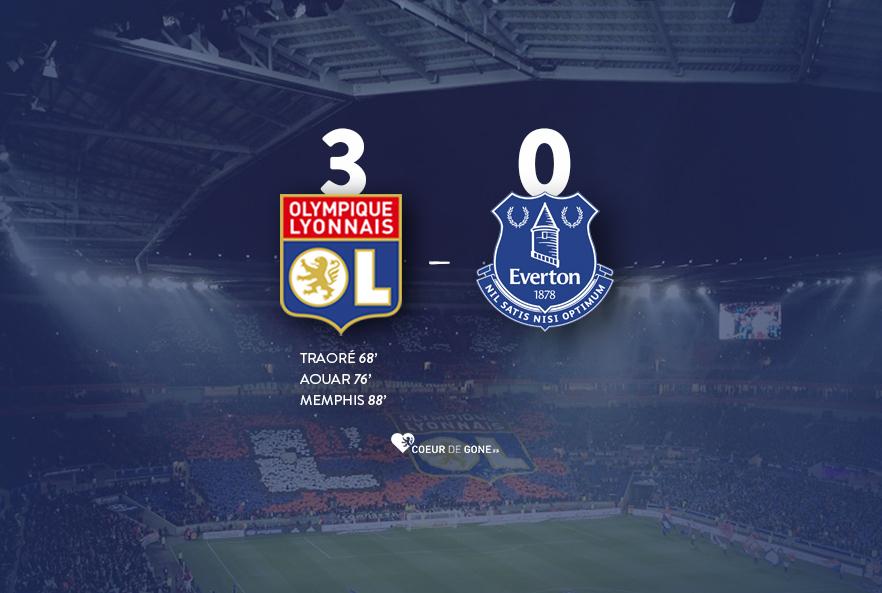 [OL 3-0 Everton] Un OL niveau européen