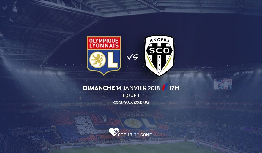 Angers mène à Lyon à la pause
