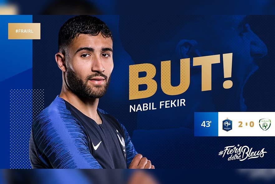 Fekir buteur avec l'Équipe de France !