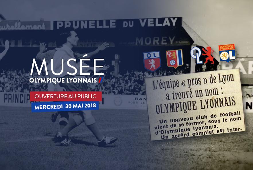 Le Musée de l'Olympique Lyonnais ouvrira ses portes au public le 30 mai 2018