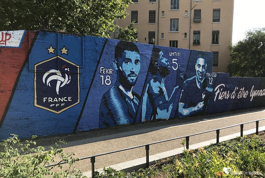 Une fresque pour les Champions du Monde Lyonnais