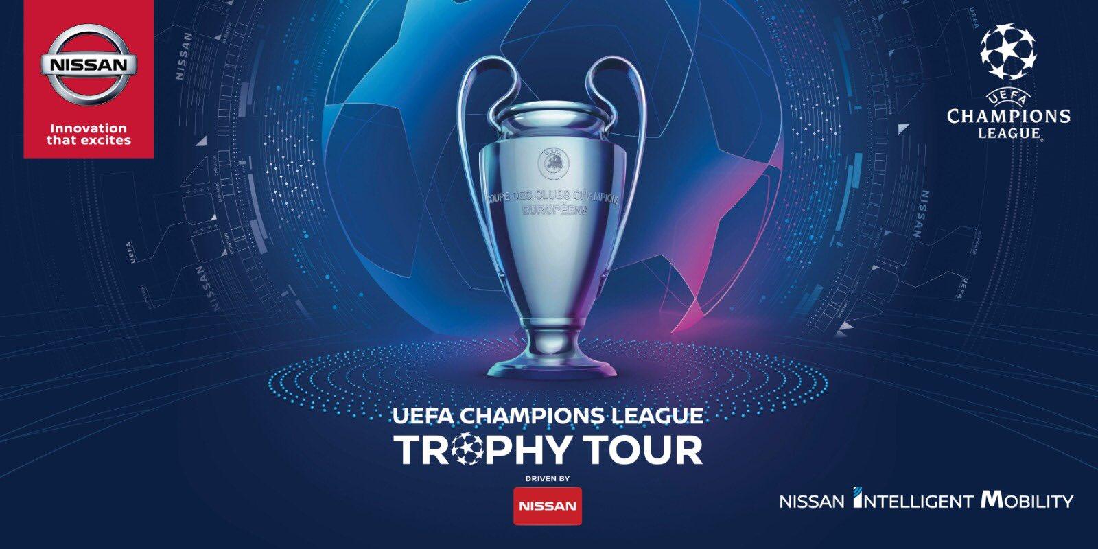 Le Trophée de la Champions League de passage à Lyon samedi !