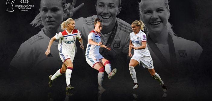 La Joueuse de l'année de l'UEFA 2018/19 sera Lyonnaise !