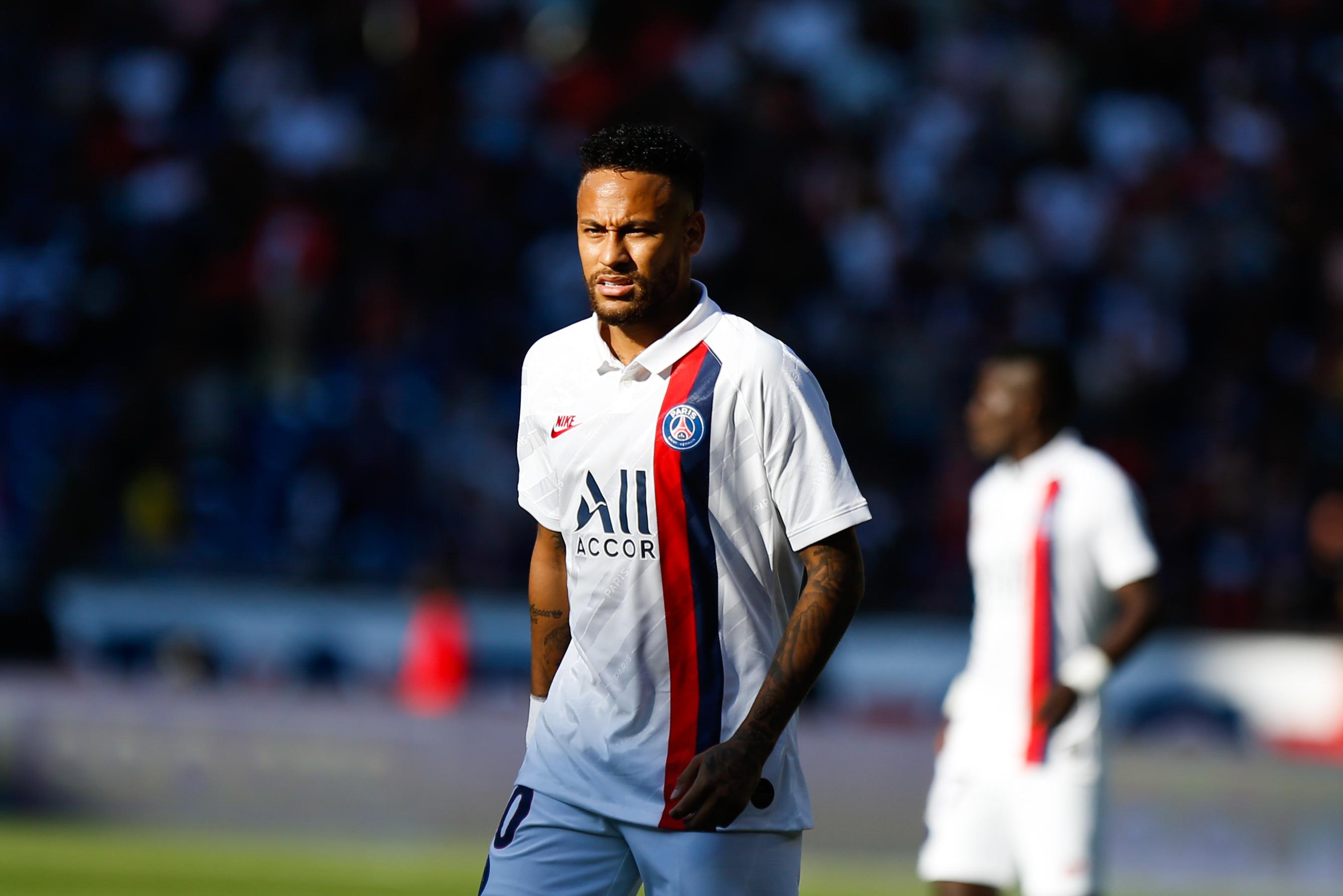 Neymar lors de son retour avec le Paris SG, samedi dernier, face à Strasbourg (Johnny Fidelin/Icon Sport)