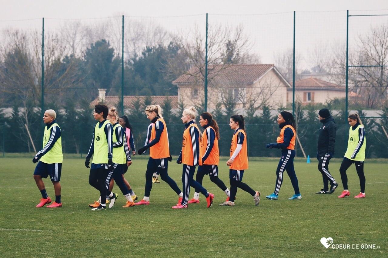 [Photos] L'entraînement des Lyonnaises – 23/01/2020